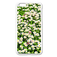 Green Field Of White Daisy Flowers Apple Iphone 6 Plus/6s Plus Enamel White Case by FunnyCow