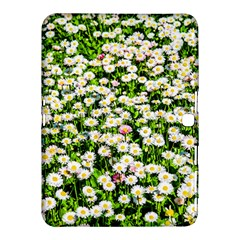 Green Field Of White Daisy Flowers Samsung Galaxy Tab 4 (10 1 ) Hardshell Case  by FunnyCow