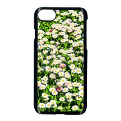 Green Field Of White Daisy Flowers Apple Iphone 8 Seamless Case (black) by FunnyCow