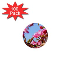 Crab Apple Blossoms 1  Mini Buttons (100 Pack)  by FunnyCow