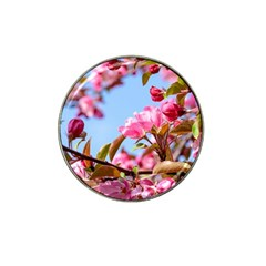 Crab Apple Blossoms Hat Clip Ball Marker (10 Pack) by FunnyCow