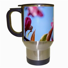 Crab Apple Blossoms Travel Mugs (white) by FunnyCow