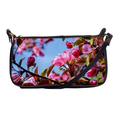 Crab Apple Blossoms Shoulder Clutch Bags by FunnyCow