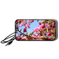 Crab Apple Blossoms Portable Speaker by FunnyCow