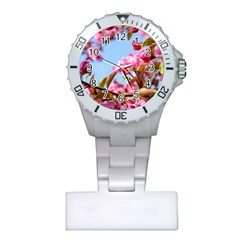 Crab Apple Blossoms Plastic Nurses Watch by FunnyCow