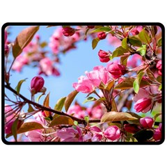 Crab Apple Blossoms Double Sided Fleece Blanket (large)  by FunnyCow