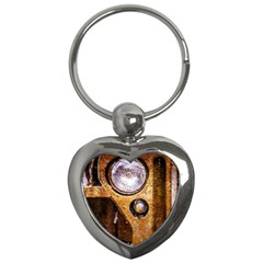 Vintage Off Roader Car Headlight Key Chains (heart)