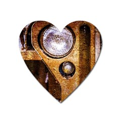Vintage Off Roader Car Headlight Heart Magnet by FunnyCow
