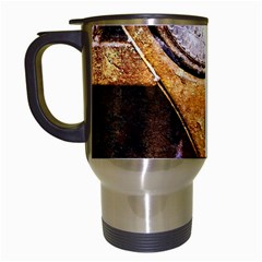 Vintage Off Roader Car Headlight Travel Mugs (white) by FunnyCow