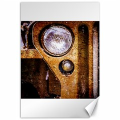 Vintage Off Roader Car Headlight Canvas 12  X 18