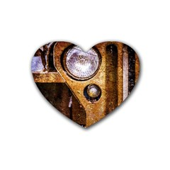 Vintage Off Roader Car Headlight Heart Coaster (4 Pack)  by FunnyCow
