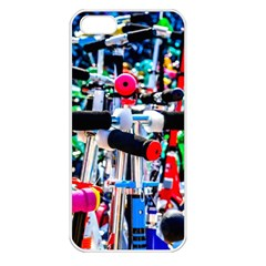 Time To Choose A Scooter Apple Iphone 5 Seamless Case (white) by FunnyCow