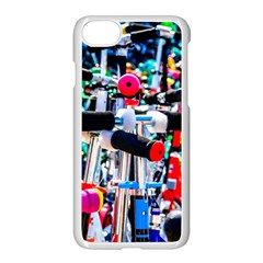 Time To Choose A Scooter Apple Iphone 8 Seamless Case (white) by FunnyCow