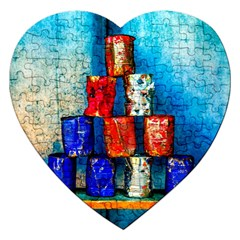 Soup Cans   After The Lunch Jigsaw Puzzle (heart) by FunnyCow