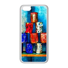Soup Cans   After The Lunch Apple Iphone 5c Seamless Case (white) by FunnyCow