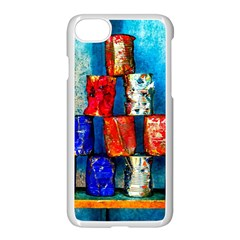 Soup Cans   After The Lunch Apple Iphone 8 Seamless Case (white) by FunnyCow