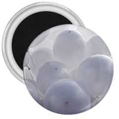 White Toy Balloons 3  Magnets by FunnyCow