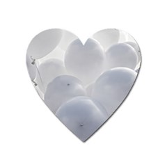 White Toy Balloons Heart Magnet by FunnyCow