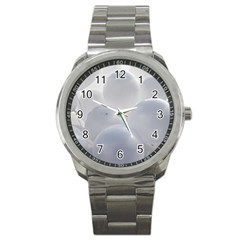 White Toy Balloons Sport Metal Watch