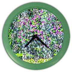 Lilacs Of The First Water Color Wall Clock by FunnyCow