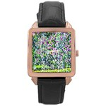 Lilacs Of The First Water Rose Gold Leather Watch  Front