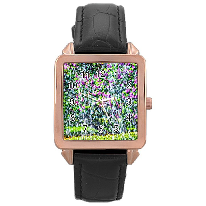Lilacs Of The First Water Rose Gold Leather Watch