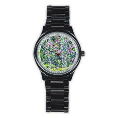 Lilacs Of The First Water Stainless Steel Round Watch by FunnyCow