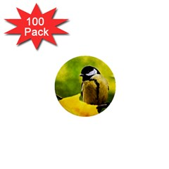 Tomtit Bird Dressed To The Season 1  Mini Buttons (100 Pack)  by FunnyCow