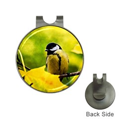 Tomtit Bird Dressed To The Season Hat Clips With Golf Markers by FunnyCow