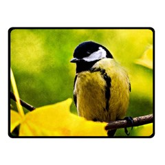 Tomtit Bird Dressed To The Season Fleece Blanket (small) by FunnyCow
