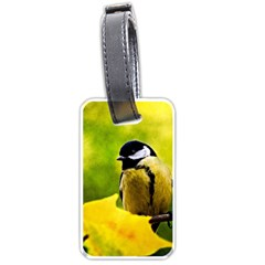Tomtit Bird Dressed To The Season Luggage Tags (one Side)  by FunnyCow