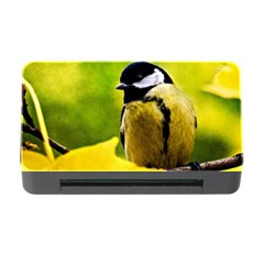 Tomtit Bird Dressed To The Season Memory Card Reader With Cf by FunnyCow
