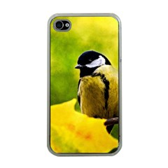 Tomtit Bird Dressed To The Season Apple Iphone 4 Case (clear) by FunnyCow