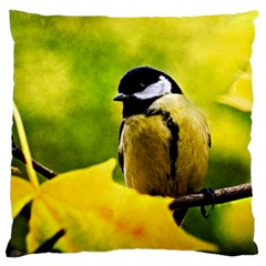 Tomtit Bird Dressed To The Season Large Cushion Case (two Sides) by FunnyCow
