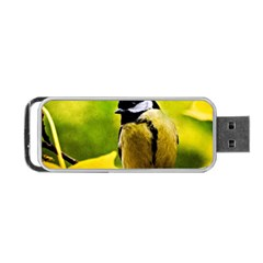 Tomtit Bird Dressed To The Season Portable Usb Flash (one Side) by FunnyCow