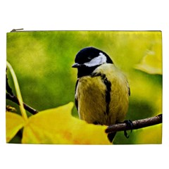 Tomtit Bird Dressed To The Season Cosmetic Bag (xxl)