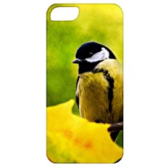 Tomtit Bird Dressed To The Season Apple Iphone 5 Classic Hardshell Case by FunnyCow