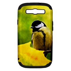 Tomtit Bird Dressed To The Season Samsung Galaxy S Iii Hardshell Case (pc+silicone) by FunnyCow