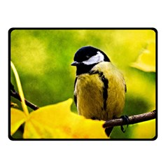 Tomtit Bird Dressed To The Season Double Sided Fleece Blanket (small)  by FunnyCow
