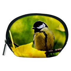Tomtit Bird Dressed To The Season Accessory Pouches (medium)  by FunnyCow