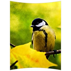 Tomtit Bird Dressed To The Season Back Support Cushion by FunnyCow