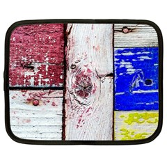 Abstract Art Of Grunge Wood Netbook Case (large) by FunnyCow