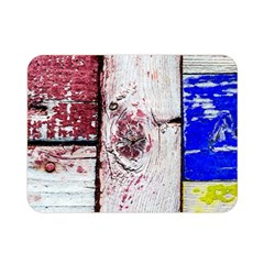 Abstract Art Of Grunge Wood Double Sided Flano Blanket (mini)  by FunnyCow