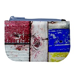 Abstract Art Of Grunge Wood Large Coin Purse by FunnyCow