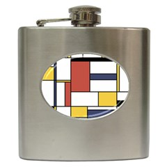 Neoplasticism Style Art Hip Flask (6 Oz) by FunnyCow