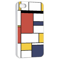 Neoplasticism Style Art Apple Iphone 4/4s Seamless Case (white) by FunnyCow