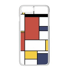 Neoplasticism Style Art Apple Iphone 8 Plus Seamless Case (white) by FunnyCow