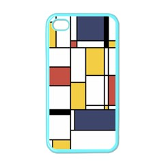 De Stijl Abstract Art Apple Iphone 4 Case (color) by FunnyCow