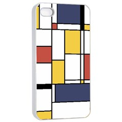 De Stijl Abstract Art Apple Iphone 4/4s Seamless Case (white) by FunnyCow