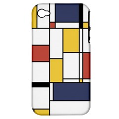 De Stijl Abstract Art Apple Iphone 4/4s Hardshell Case (pc+silicone) by FunnyCow